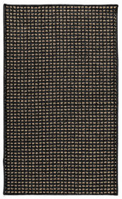 Picture of Black and Tan Gridlock Accent Rug 21 X 34-in