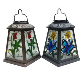 Picture of 7.5IN PAINTED SOLAR LANTERN 2A