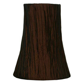 Picture of Chocolate Crinkle Pleated Lamp Shade 5 X 10 X 10