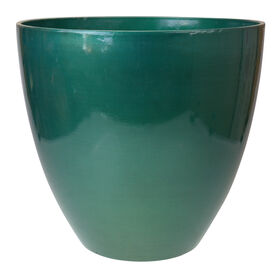 Picture of 15IN CHROME GREEN HDR EGG POT