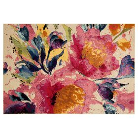 Picture of B443 Pink Arabella Floral Rug
