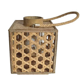 Picture of Bamboo Tea-Light Holder 10-in