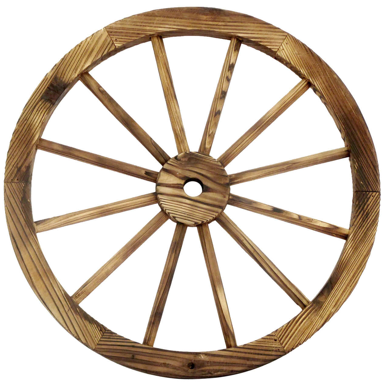 24 in wood wagon wheel patio d 233 cor at home