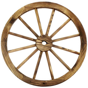 Picture of 24-in. Wood Wagon Wheel Patio Décor