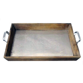 Picture of Wood Galvanized Tray 17.5 X 12 in.