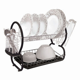 Picture of 2-Tier Dish Rack - Black