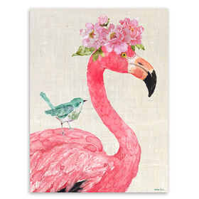 Picture of Floral Flamingo Accent Art- 8x10 in.