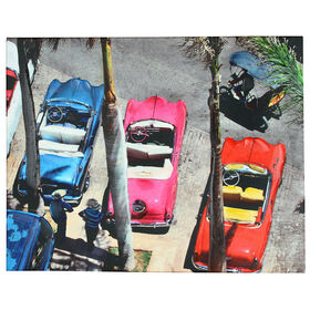 Picture of Havana Cars Canvas Art- 16x20 in.