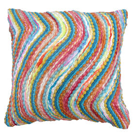 Picture of Multi-Color Wave Pillow- 18-in