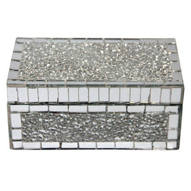 Picture of Crushed Mirror Jewelry Box 7X4X3-in