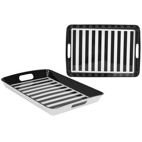 Picture of 18 RECT TRAY B W STRIPE