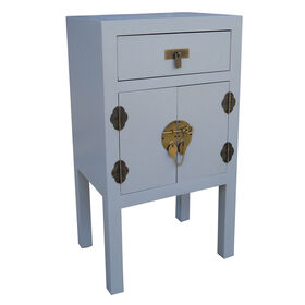 Picture of Asian-Inspired Grey Cabinet- 18 x 32-in