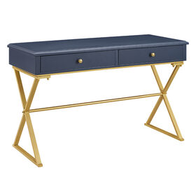 Picture of Blue Desk with Gold Legs
