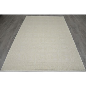 Picture of E120 Cream Cancun Geometric Rug