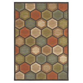 Picture of Multicolor Monaco Polygon Rug 5 X 7 ft