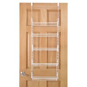 Picture of 5 Tier Wire Over the Door Shelf - White