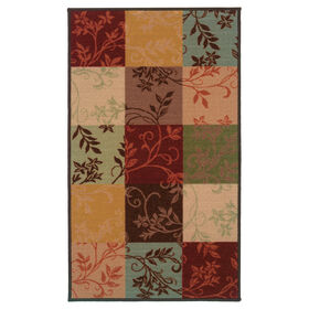 Picture of D106 Leafy Block Print Rug