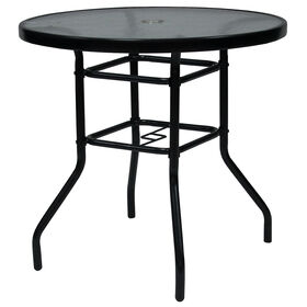 Picture of 30 in. Black Round Steel Bistro Table