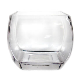 Picture of Clear Glass Square Vase- 4 x 3.5-in