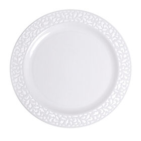 Picture of 7.5-in White Pierced Round Side Plates - set of 10