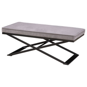 Picture of KOHL GREY  METAL X BENCH