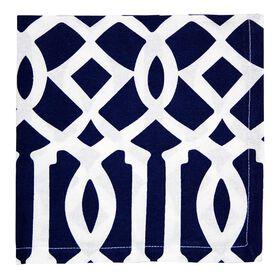 Picture of Blue Geometric Print Napkins- Set of 4