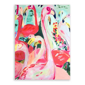 Picture of Flamingos Canvas Art- 30x40 in.