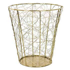 Picture of WASTE BASKET GOLD