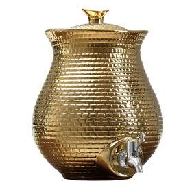 Picture of Honeycomb Beverage Dispenser, Gold