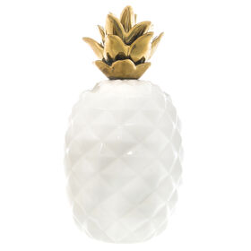 Picture of White Pineapple Decor with Gold Stem