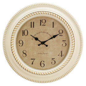 Picture of 18-in Antique White Clock with Distressed Face