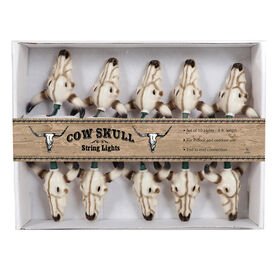 Picture of 10ct Cow Skull String Light