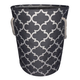 Picture of Fabric Hamper - Gray Lattice