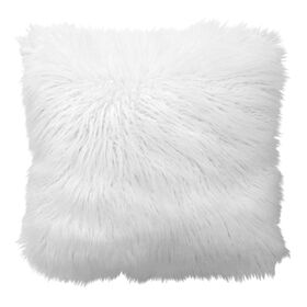 Picture of White Faux Fur Posh Luca Pillow- 18 in.