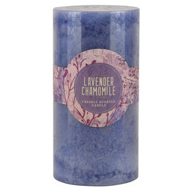 Picture of 3 x 6 Lavender Chamomile Pillar Candle