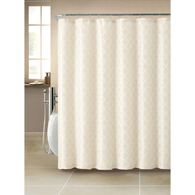Picture of Darien Jacquard Shower Curtain- Ivory