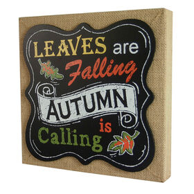 Picture of 11X11 Burlap Chalkboard Autumn is Calling