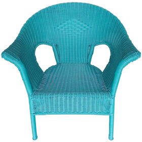 Picture of WICKER CHAIR-DARK TEAL