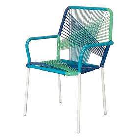 Picture of Wicker String Chair, Blue & Mint Green