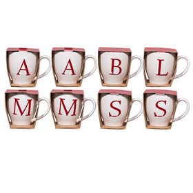 Picture of Assorted 24-oz Ivory Mug with Red Monogram  (sold separately)