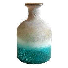 Picture of Matte Aqua Glass Art Bottle