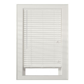 """Picture of 2"""" Faux Wood Blinds- White 52x64-in"""