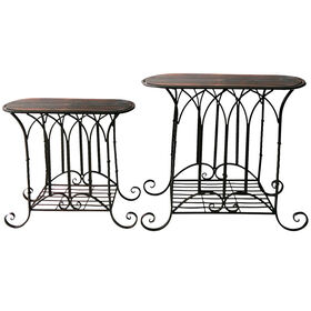 Picture of Nested Wood & Metal Gothic Table 22-in (Sold Separately)
