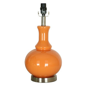 Picture of Orange Glass Round Table Lamp 17-in