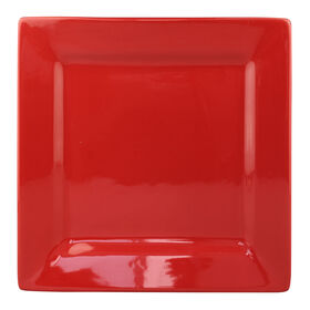 Picture of S/4 SQR DINNER PLATE RED