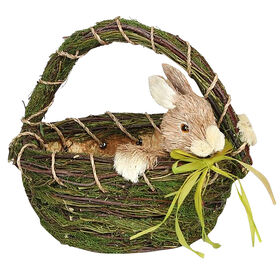 Picture of Foam & Faux Grass Easter Basket with Bunny