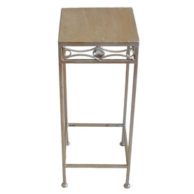 Picture of Champagne Plant Stand with Jewel 8x21-in