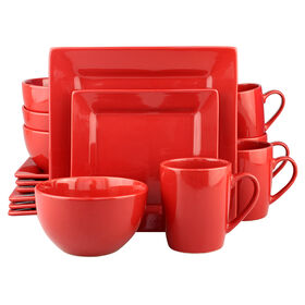 Picture of 16 PC SQ DINNERWARE SET RED