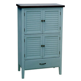 Picture of Grey Shutter Cabinet with 1-Drawer and 4-Doors- 28 x 26-in