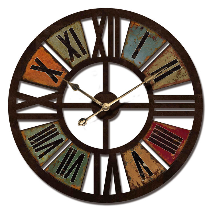 24-in Giant Color Roman Number Clock